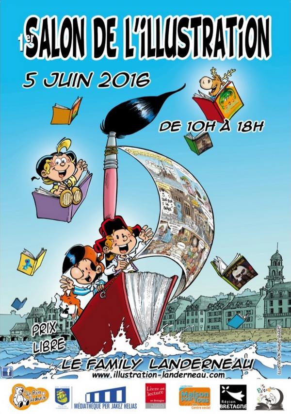 SALON DE L'ILLUSTRATION affiche